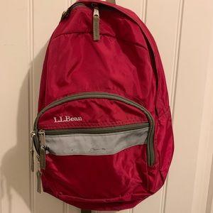 L.L. Bean Junior Backpack/Book-bag RED